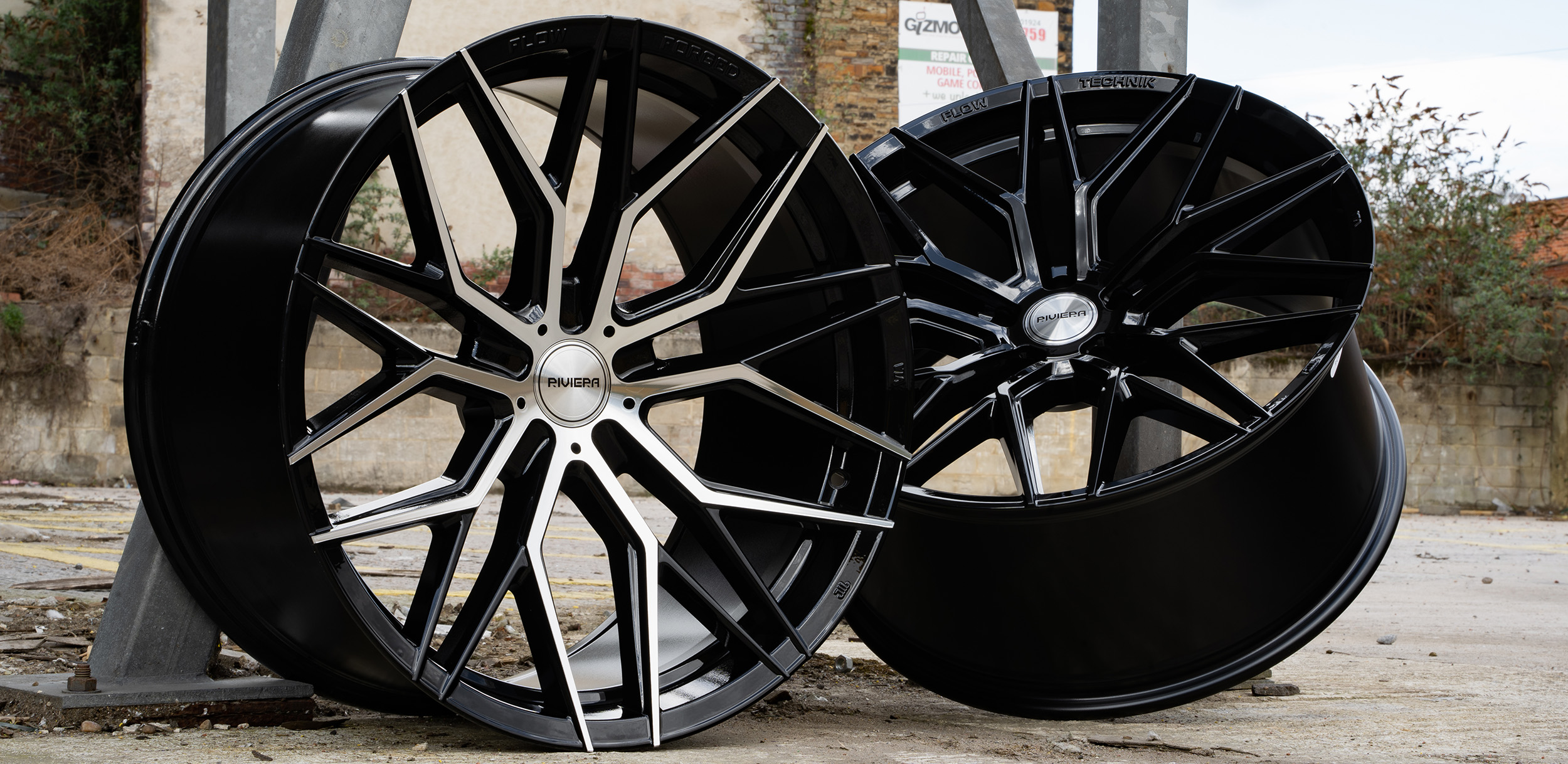 Riviera RF101 Flow Formed Alloy Wheel Both Finishes